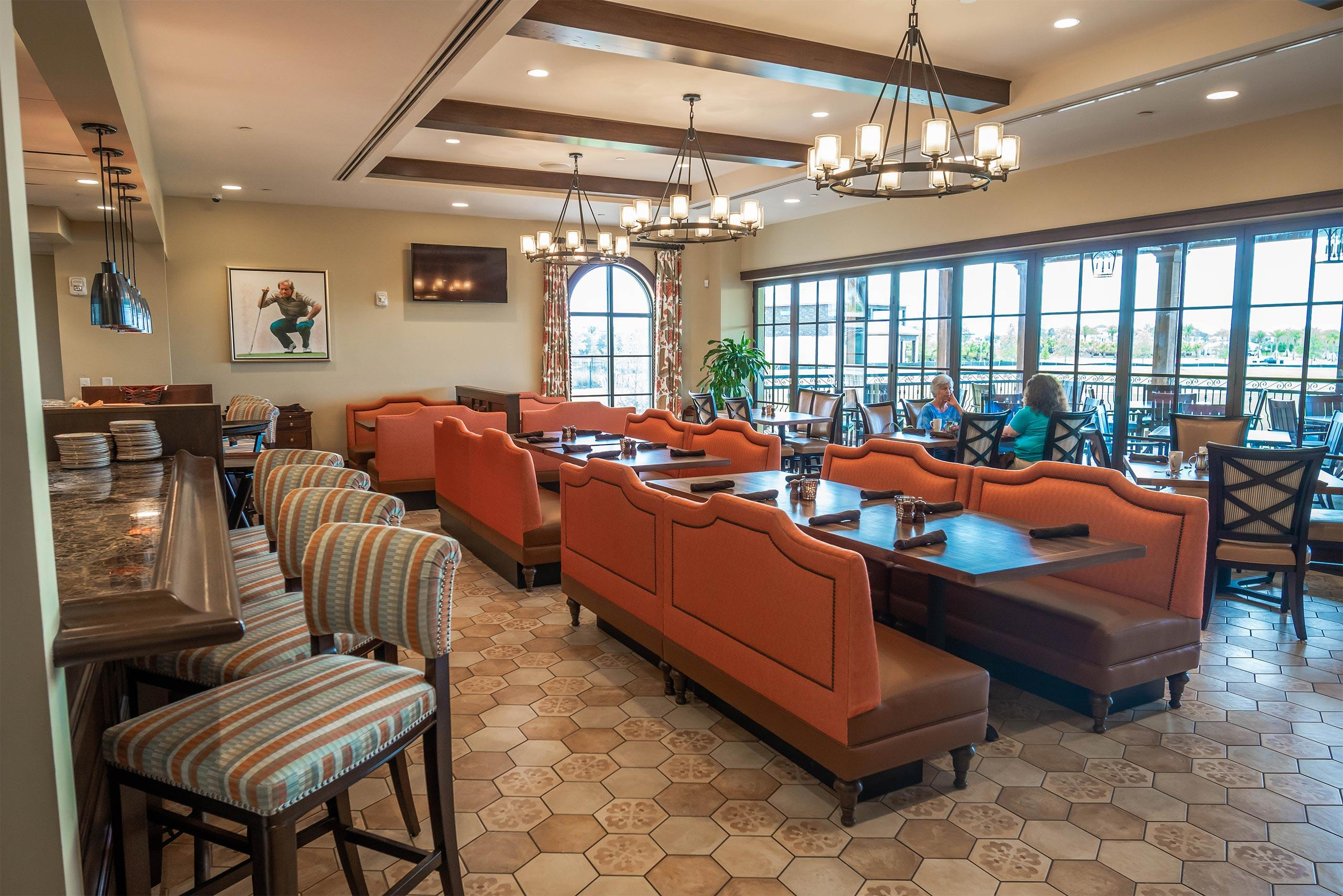 Traditions Restaurant at the Bear's Den Resort Orlando clubhouse.